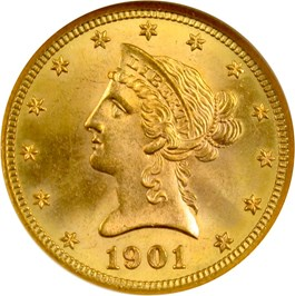 Image of 1901-S $10 NGC MS65