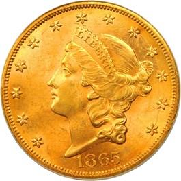 Image of 1865-S $20 PCGS MS62 (Brother Jonathan Shipwreck)