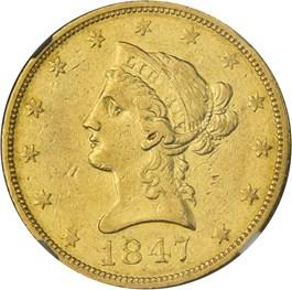 Image of 1847-O $10 NGC XF45