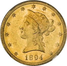 Image of 1894-O $10 NGC MS61