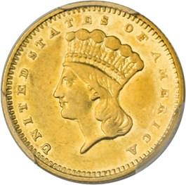 Image of 1858-S G$1 PCGS AU53