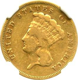 Image of 1878 $3 NGC VG-10
