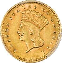 Image of 1859 G$1 PCGS Genuine AU Details (Damage)