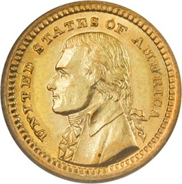 Image of 1903 Jefferson G$1 PCGS/CAC MS62