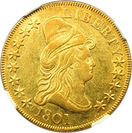 Image of 1801 $10 NGC AU55