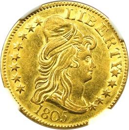 Image of 1805 $5 NGC AU55