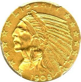 Image of 1909-S $5 PCGS AU53