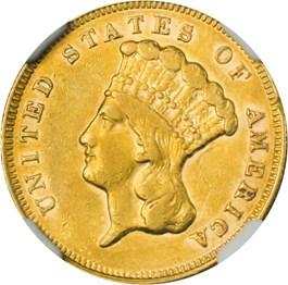Image of 1874 $3 NGC XF45