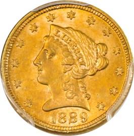Image of 1889 $2 1/2 PCGS MS62