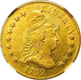 Image of 1799 $10 NGC AU58 (Small Stars Obverse)