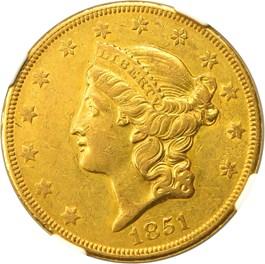 Image of 1851-O $20 NGC AU50