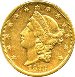 Image of 1873-S $20 PCGS AU53 (Closed 3)