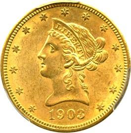 Image of 1903-O $10 PCGS MS63