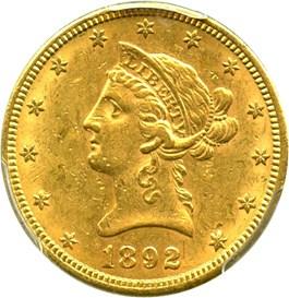 Image of 1892-S $10 PCGS AU58