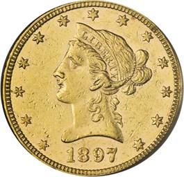 Image of 1897 $10 PCGS AU58 - No Reserve!
