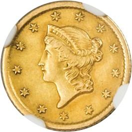 Image of 1852-O G$1 NGC AU53