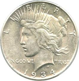 Image of 1934-S $1 PCGS/CAC AU53