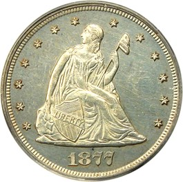 Image of 1877 20c PCGS/CAC Proof 63