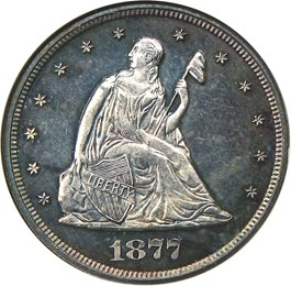 Image of 1877 20c NGC/CAC Proof 64