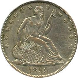 Image of 1859-O 50c PCGS XF45
