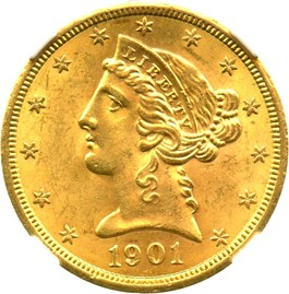 Image of 1901-S $5 NGC MS63