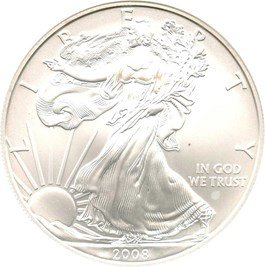 Image of 2008-W Silver Eagle $1 NGC MS70