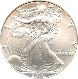 Image of 2006 Silver Eagle $1 NGC MS69