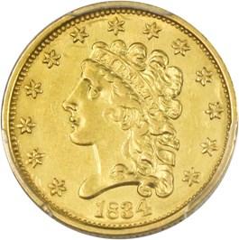 Image of 1834 Classic Head $2 1/2 PCGS AU55