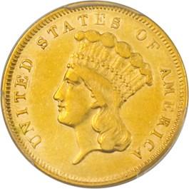Image of 1856-S $3 PCGS AU50
