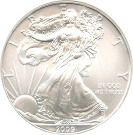 Image of 2009 Silver Eagle $1 NGC MS70 (Early Releases)