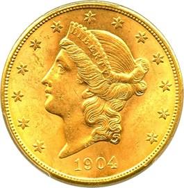 Image of 1904-S $20 PCGS MS64