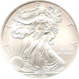 Image of 2008-W Silver Eagle $1 NGC MS70 (Early Releases)