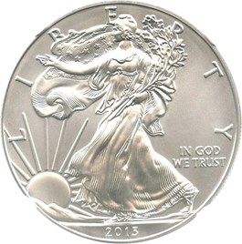 Image of 2013-W Silver Eagle $1 NGC MS70 (Early Releases)