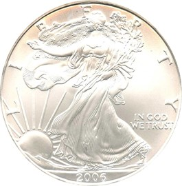Image of 2006 Silver Eagle $1 NGC MS69 (1 of 1st 100,000 Struck)