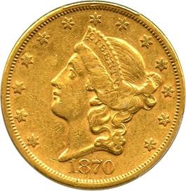 Image of 1870-S $20 PCGS XF45