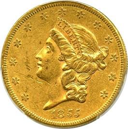 Image of 1855 $20 PCGS AU50