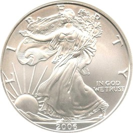 Image of 2006-W Silver Eagle $1 NGC MS69