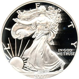 Image of 2007-W Silver Eagle $1 NGC Proof 70 UCAM