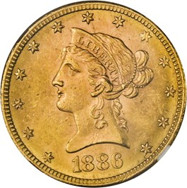 Image of 1886-S $10 NGC MS63