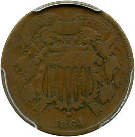 Image of 1864 2c PCGS/CAC VG-08 BN (Small Motto) - No Reserve!