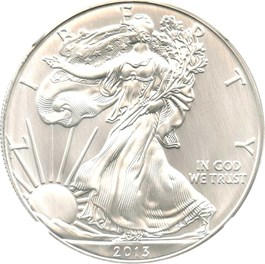 Image of 2013 Silver Eagle $1 NGC MS70
