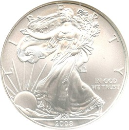 Image of 2008 Silver Eagle $1 NGC MS69 (Early Releases)