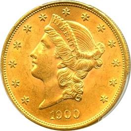 Image of 1900 $20 PCGS MS64