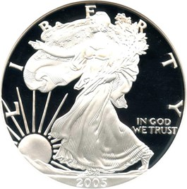 Image of 2005-W Silver Eagle $1 NGC Proof 70 UCAM