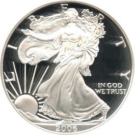 Image of 2006-W Silver Eagle $1 NGC Proof 69 UCAM