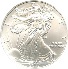 Image of 2007-W Silver Eagle $1 NGC MS69
