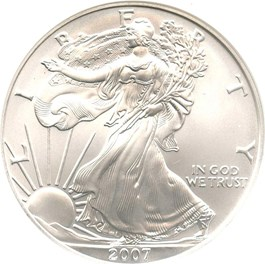 Image of 2007-W Silver Eagle $1 NGC MS69 (Early Releases)