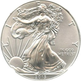 Image of 2013 Silver Eagle $1 NGC MS69 (Early Releases)