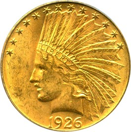 Image of 1926 $10 PCGS/CAC MS62