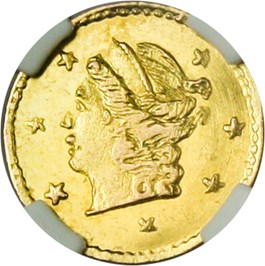 Image of California Gold: 1870 25c NGC MS65 (BG-808)